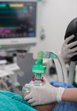 Pre oxygenation for general anesthesia Royalty Free Stock Photo