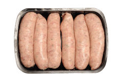 Pre-packed sausages Royalty Free Stock Images