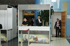 Pre Registered Counter - Abu Dhabi International Hunting and Equestrian Exhibition (ADIHEX) Stock Images