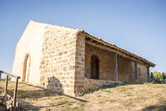 Pre-romanesce d'ermitage, Pedro, Soria, Castille-Léon, Espagne Photos libres de droits