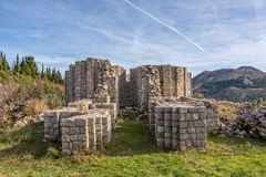 Pre-romanesque church ruins, Rotonda Royalty Free Stock Images