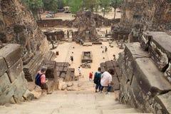 Pre rovine del tempio di Rup Fotografia Stock Libera da Diritti