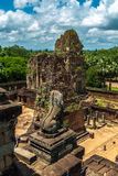Pre rup. General sight and statue of vigilant lion of the archaeological place of pre rup in siam reap, cambodia Stock Photography