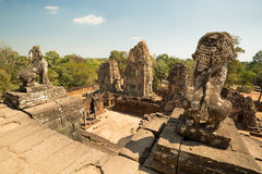 Pre Rup lions and panorama. To east Stock Image