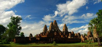 Pre Rup temple at Angkor. Siem Reap Province, Cambodia Royalty Free Stock Images