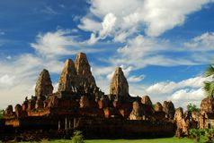 Pre Rup temple at Angkor. Siem Reap Province, Cambodia Royalty Free Stock Photos