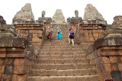 Pre Rup temple ruins Royalty Free Stock Image