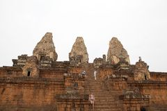 Pre Rup temple ruins Royalty Free Stock Images