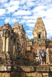 Pre Rup Temple: Towers and galleries at morning. Stock Photography
