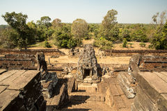 Pre Rup west jungle panorama. From the top Stock Photo