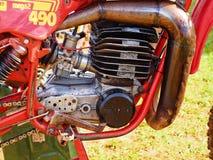 Pre 1970`s Dirt Bike Engine Stock Photography