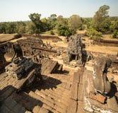 Pre scale e leoni di Rup con panorama della giungla Fotografia Stock
