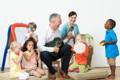 Pre School Music Lesson Stock Photos