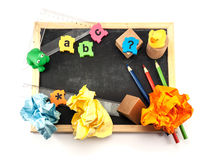 Pre school tools. Royalty Free Stock Image
