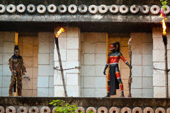 Pre-Spaanse Mayans in de wildernis Royalty-vrije Stock Afbeelding