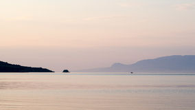 Pre Sunrise, Gulf of Corinth Stock Images