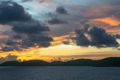 Pre-sunrise skies over Torres Straits Islands Archipelago, Australia royalty free stock image