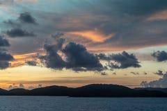 Pre-sunrise skies over Torres Straits Islands Archipelago, Australia stock image