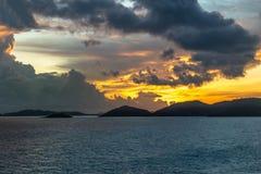 Pre-sunrise skies over Torres Straits Islands Archipelago, Australia royalty free stock photos