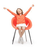 Pre-teen girl in casual clothes. Picture of beautiful pre-teen girl in casual clothes Stock Images
