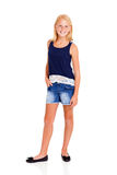 Pre teen girl full length portrait Stock Photos