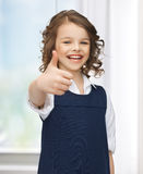 Pre-teen girl showing thumbs up. Picture of beautiful pre-teen girl showing thumbs up Stock Image