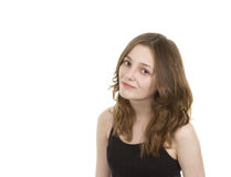 Pre teen girl looking at camera Royalty Free Stock Photography