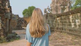 Pre templo de Rup almacen de metraje de vídeo