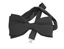 Pre-tied black silk bow tie Stock Image