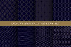 Blue luxury abstract vector patterns pack