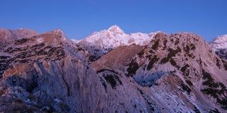 Pre vista della montagna di alba Immagine Stock Libera da Diritti