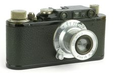 Pre-war rangefinder camera Stock Images