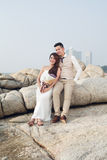 Pre wedding outdoor romantic Royalty Free Stock Images