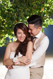 Pre wedding outdoor romantic sunset Stock Images
