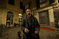 A preacher on the night of Genoa Royalty Free Stock Photos