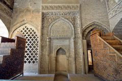 Preacher's pew. At Jameh Mosque in Isfahan,Iran Royalty Free Stock Images