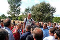Preachers at Hyde Park Stock Photo