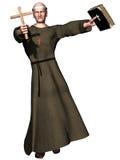 Preaching monk Stock Image