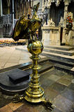 Preaching pulpit in the shape of a pelican. 