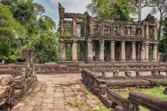 Preah可汗在吴哥,柬埔寨的佛教寺庙 库存照片