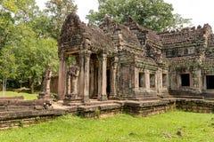 Preah可汗在吴哥,柬埔寨的佛教寺庙 免版税库存图片