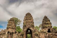 Preah可汗在吴哥,柬埔寨的佛教寺庙 库存图片
