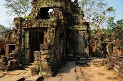 Preah可汗寺庙在吴哥窟地区 库存图片