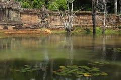 Preah可汗寺庙在吴哥窟 免版税库存图片