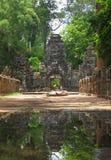 Preah可汗寺庙在吴哥窟 库存图片