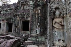 Preah可汗寺庙在吴哥 库存图片