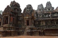 Preah可汗寺庙在吴哥 免版税库存图片