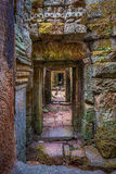 Preah Kahn Corridor, Cambodia Royalty Free Stock Photos