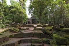 Preah Kahn temple Angkor Archeological Park, Cambodia Stock Images