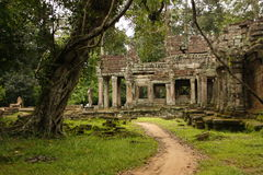 Preah Kahn temple, Cambodia Royalty Free Stock Image